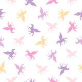 Seamless vector flat pattern - Pegasus Royalty Free Stock Photo
