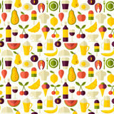 Seamless vector flat style food background Royalty Free Stock Photo
