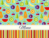 Seamless Vector flat style  food background wit place for text Stock Images