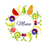 Seamless Vector flat style  food background wit place for text Royalty Free Stock Image