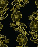 Seamless vector floral background design Royalty Free Stock Photo