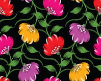 Seamless vector floral design Royalty Free Stock Photos