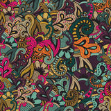 Seamless Vector floral pattern. Vintage colors Royalty Free Stock Image