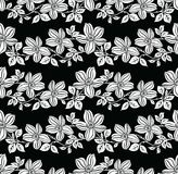Seamless vector floral pattern. Seamless black and white vector floral pattern for textile fabric Stock Photos
