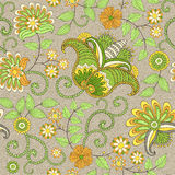 Seamless vector floral  pattern Royalty Free Stock Photos
