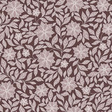 Seamless vector floral pattern with colorful fantasy plants and Stock Image