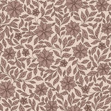 Seamless vector floral pattern with colorful fantasy plants and Stock Photography