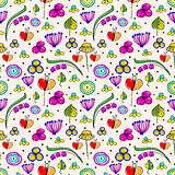 Seamless vector floral pattern. Stock Photography