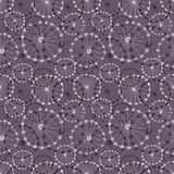 Seamless vector floral pattern. Dark grey hand drawn background with abstract flowers. Stock Photos