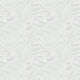 Seamless vector floral pattern. Decorative ornamental pastel gray background with roses, leaves and decorative elements. Stock Photos