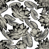 Seamless vector floral pattern Royalty Free Stock Photo