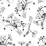 Seamless vector floral pattern. Royalty Free Stock Photo