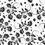 Seamless vector floral pattern. Stock Photo