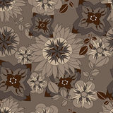 Seamless vector floral pattern. For easy making seamless pattern just drag all group into swatches bar. Royalty Free Stock Photo