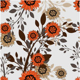 Seamless vector floral pattern. For easy making seamless pattern just drag all group into swatches bar. Royalty Free Stock Image