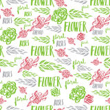 Seamless vector floral pattern Royalty Free Stock Images