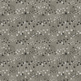 Seamless vector floral pattern. Grey hand drawn abstract background with flowers. Series of Hand Drawn Seamless Patterns Royalty Free Stock Images
