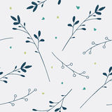 Seamless vector floral pattern. Love illustration of cute  flowe Stock Photography