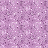 Seamless vector floral pattern. Pink hand drawn background with abstract flowers Stock Photography
