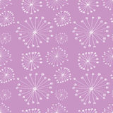 Seamless vector floral pattern. Pink hand drawn background with abstract flowers. Stock Photo