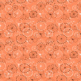 Seamless vector floral pattern. Red hand drawn background with different flowers Royalty Free Stock Photography