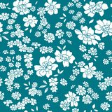 Seamless vector floral pattern in retro style Stock Photos