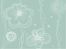 Seamless vector floral pattern Stock Photography