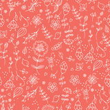 Seamless vector floral pattern, spring,summer backdrop. Hand drawn surface design flowers in garden. Stock Photo