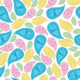 Seamless vector floral pattern. Stylized silhouettes of flowers Royalty Free Stock Photos