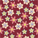 Seamless vector floral pattern. Stylized silhouettes of flowers Royalty Free Stock Photography