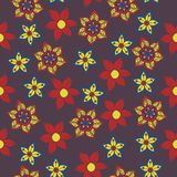 Seamless vector floral pattern. Stylized silhouettes of flowers royalty free illustration
