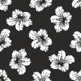 Seamless vector floral pattern. Stylized silhouettes of flowers vector illustration