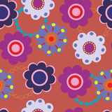 Seamless vector floral pattern. Stylized silhouettes of flowers Stock Photo