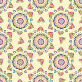 Seamless vector floral pattern. Stylized silhouettes of flowers Stock Photography