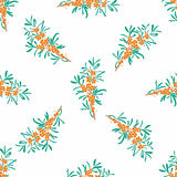 Seamless vector floral pattern. Stylized silhouettes of flowers Royalty Free Stock Photo