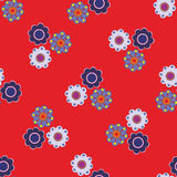 Seamless vector floral pattern. Stylized silhouettes of flowers Stock Images