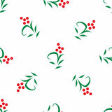 Seamless vector floral pattern. Stylized silhouettes of flowers stock illustration