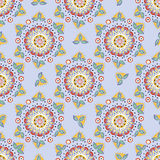 Seamless vector floral pattern. Stylized silhouettes of flowers Royalty Free Stock Image