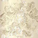 Seamless vector floral pattern in vintage style for design Stock Photo
