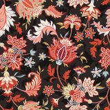 Seamless vector floral pattern for wallpaper and textiles. Seamless higly detailed vector floral pattern for wallpaper and textiles, intricate flowers and leaves Royalty Free Stock Image