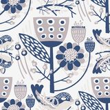 Seamless Vector Floral Pattern for your projects. Seamless Vector Floral Pattern with blue & grey shades of colors which can be used for your wallpapers Royalty Free Stock Image