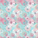 Seamless vector floral texture Stock Photo