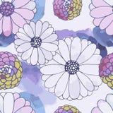 Seamless vector floral texture Stock Photos