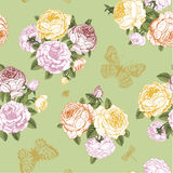 Seamless vector floral vintage pattern Stock Photo