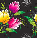 Seamless vector floral wallpaper Royalty Free Stock Photo