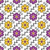 Seamless flourish background-pattern Stock Photos