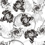 Seamless vector flower background Stock Photography