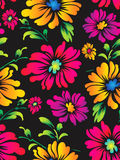Seamless vector flower background for fabric Stock Photo