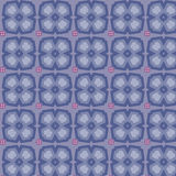 Seamless vector flower pattern red and blue.  Royalty Free Stock Photo