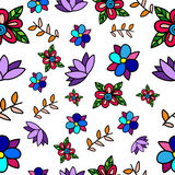 Seamless Vector flower pattern Royalty Free Stock Photos